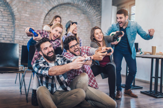 协作视频游戏可以提高办公效率